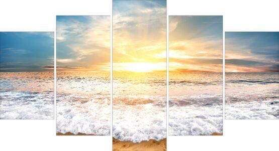 Set canvas Soare in valuri